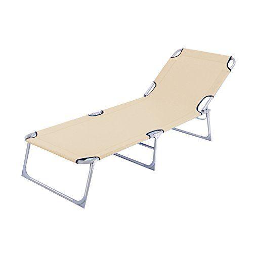 MCTECH® Klappbar Strandliege Freizeitliege Gartenliege Sonnenliege Schaukelliege Campingliege Regiestuhl, 188 x 58 x 24 cm