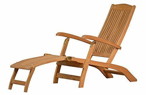 """Premium Teak Deckchair aus der Serie """"Brighton"""" gefertigt aus Teakholz/ massiv/ Liege/ Sonnenliege/ Liegestuhl/ Gartenliege/ Gartenmöbel/ Holz-Liege/ Teak-Liege/ klappbar/ zusammenklappbar/ Premium-Qualität"""