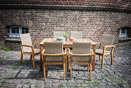 ribelli gartentisch norderney aus holz esstisch braun f r garten terrasse balkon. Black Bedroom Furniture Sets. Home Design Ideas