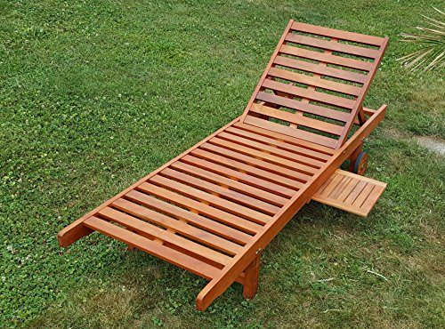 Sonnenliege Gartenliege Strandliege Liegestuhl Holzliege Holz Eukalyptus Hartholz wie Teak SABALO von AS-S