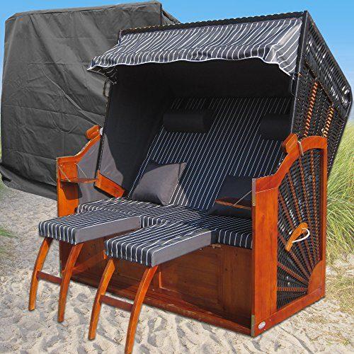 Strandkorb XXL # 2-Sitzer Strandkorb 135cm breit # Ostsee Strandkorb # Varianten Artikel # Gardeni
