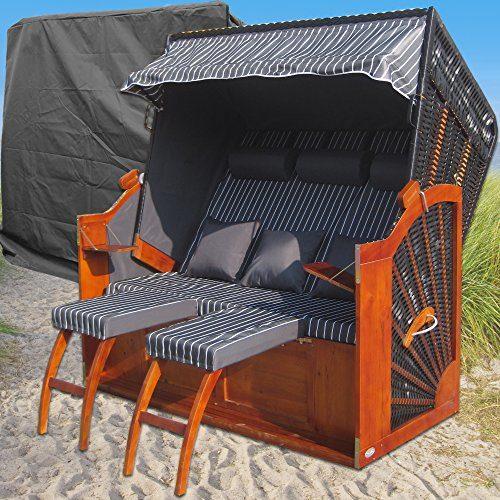 Strandkorb XXXL # 2,5-Sitzer Strandkorb 158cm breit # Ostsee Strandkorb # Varianten Artikel # Gardeni