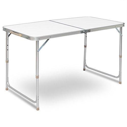 WOLTU® Campingtisch Klapptisch Gartentisch Arbeitstisch Balkontisch höhenverstellbar Aluminium MDF CPT8122sg