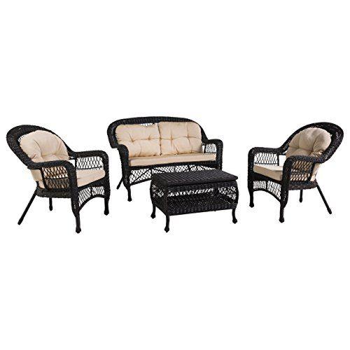 Vintage Gartenmöbel OUTLIV. Mississippi Polyrattan Sofagruppe 4-tlg. Outdoor Sitzgruppe wetterfest