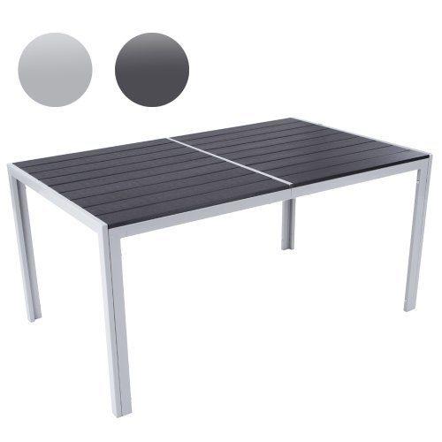 Miadomodo–Gartentisch 150x 90x 72cm hellgrau