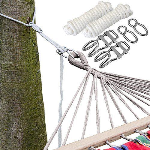 XXL Befestigung für Hängematte an Bäumen Seilbefestigungsset 6 Meter Belastbarkeit max. 160 KG Komplettset