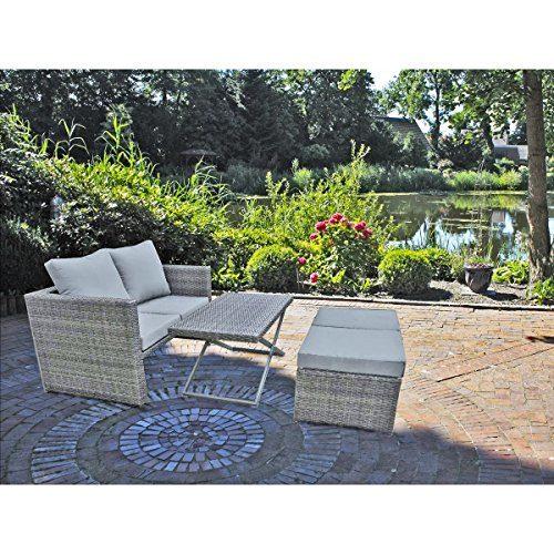 4tlg. Garten Sofa Set Lounge Sitzgruppe Terrasse Möbel Rattan Optik