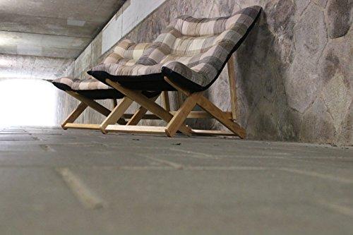 Liegesessel XL – 132x70x40 cm - stabiler relax Liegestuhl mit hohem Sitz und Liegekomfort