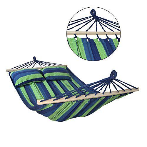 Stabhängematte CIBAO inkl. 2 Kissen Liegefläche 240 x 150 cm in vielen Farben Traglast 300 kg für 2 Personen, Farbe:Mauritius