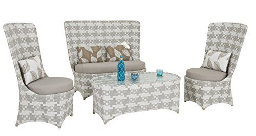 Premium Designer Lounge PEPITA edle Sitzgruppe für Garten oder Innenbereich 4 tlg (Pepito Set 4tlg)