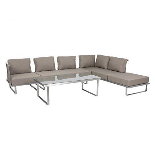 Outdoor Lounge Sofa Outliv. Corsica 4tlg. multifunktional verstellbar Loungemöbel