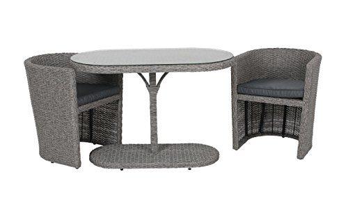 Gartenmöbel-Set Balkonmöbel 3tlg Cube Sitzgarnitur Terrassenmöbel Garten