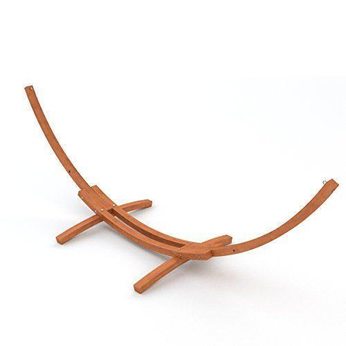 Ampel 24 XL Outdoor Hängemattengestell 400 cm | Holz sibirische Lärche wetterfest | Gestell Madagaskar braun ohne Hängematte