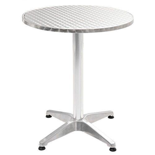 vidaXL Gartentisch Aluminium Outdoor Tisch Balkontisch Terrassentisch Esstisch
