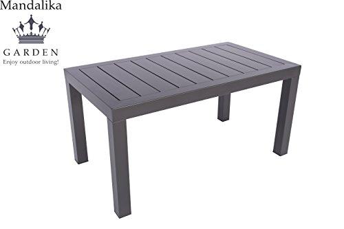 """Aluminium Gartentisch Loungetisch """"Toledo 90 x 50"""" mit Aluminium Tischplatte, absolut wetterfest, anthrazit aus dem Hause Pure Home & Garden"""