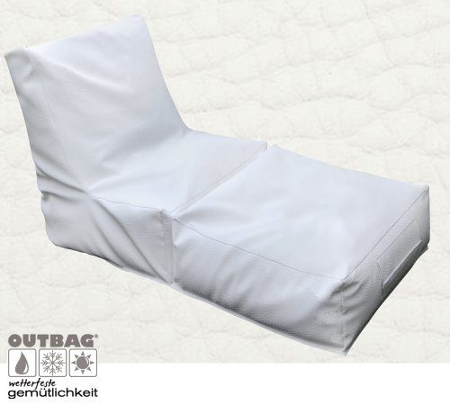 Lounge-Liege PEAK, deluxe white - (PEA-DL)