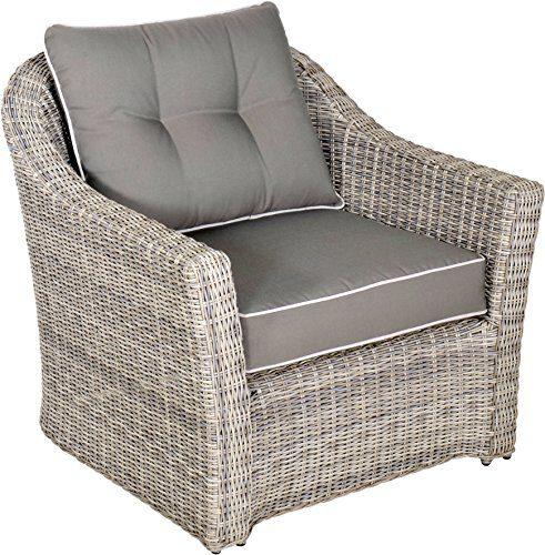 Lounge Sessel Garten Stuhl Aura 2er Set 79 cm grau