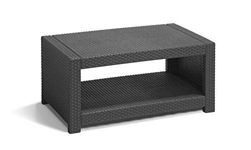 Loungetisch Allibert Monaco Kunststoff 92x59x43 cm anthrazit