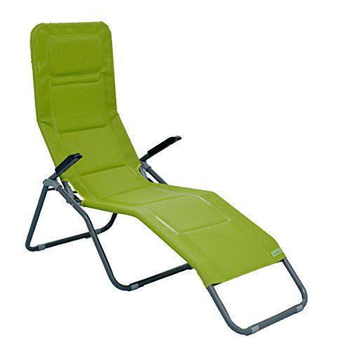 Meerweh Aluminium Luxus Gartenliege EXTRA HOCH, Sitzhöhe ca. 43 cm, Bäderliege Saunaliege, grün