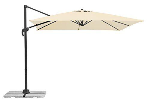 Schneider Sonnenschirm Rhodos Junior, natur, 270x270 cm quadratisch, Gestell Aluminium/Stahl, Bespannung Polyester, 18 kg