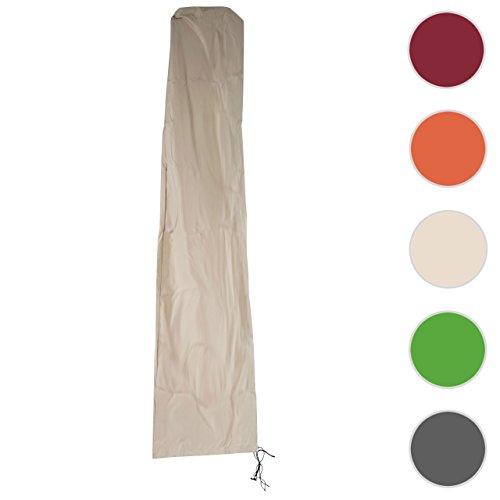 Schutzhülle HWC für Ampelschirm bis 4,3 m (3x3 m), Abdeckhülle Cover mit Reißverschluss ~ creme