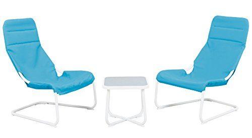 Sitzgruppe für Kinderzimmer Jugendzimmer Balkon 2 Schwingsessel + Tisch