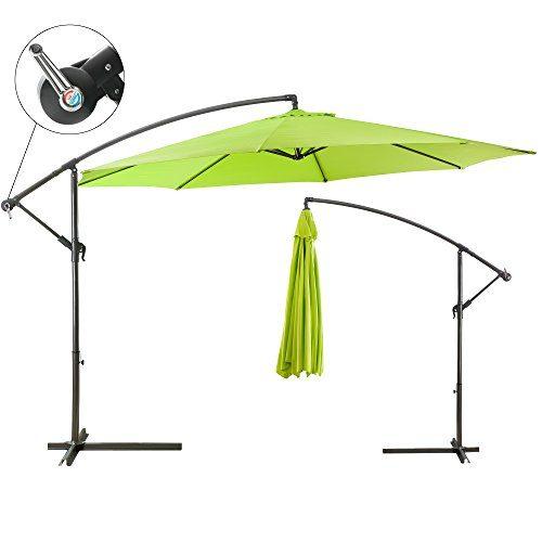 Sonnenschirm Ampelschirm Pendelschirm Kurbelschirm Lime Grün 3,5m
