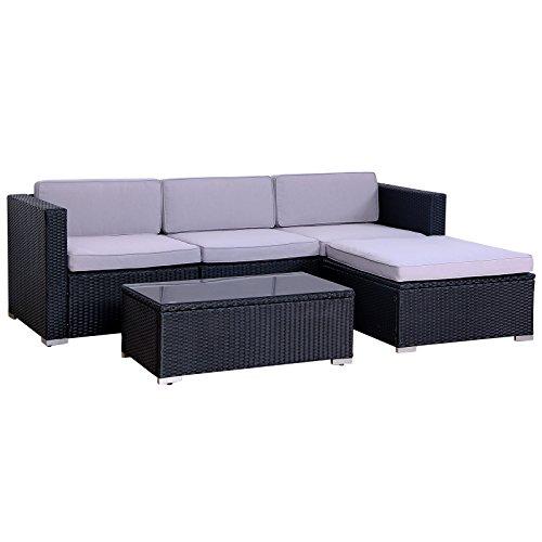 Svita California POLY-RATTAN Lounge Gartenset Sofa-Set Garnitur Gartenmöbel Couch-Set (XL)