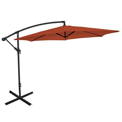 ultranatura ampelschirm mit kurbel als balkonschirm gartenschirm oder marktschirm nutzbar. Black Bedroom Furniture Sets. Home Design Ideas