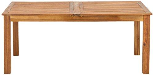 greemotion Ausziehtisch Borkum akazie, Gartentisch aus FSC® zertifiziertem Akazienholz, ausziehbarer Esstisch, besonders robust und witterungsbeständig, Maße: ca. 180/260 x 100 x 74 cm