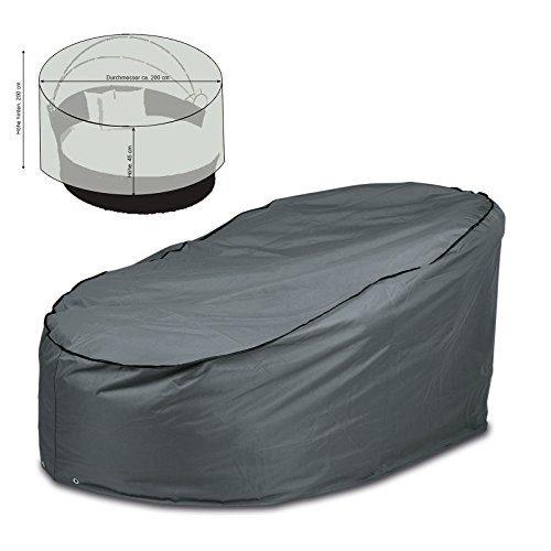 Schutzhülle rund Ø 2m Abdeckung für runde Lounge-Liege oder Rattan Sonneninsel