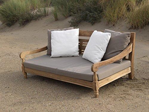 Loungesofa Gartensofa Kawan XL 3-Sitzer Teak massiv Recycled Exotan
