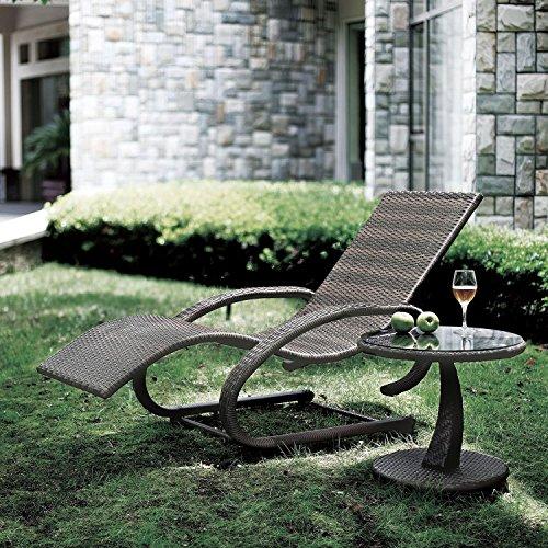 Blumfeldt Daybreak • Gartenliege • Sonnenliege • Relaxliege • Schwingliege • Rattan-Optik • ergonomische Form • witterungsbeständig • wasserresistent • schmutzabweisend • Aluminium-Gestell • Arm-Ablage • 73 cm breite Liegefläche • 100 kg max. • grau
