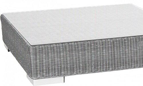 "2er Loungesofa ""Maryland"" Aluminiumgestell Rattan grau 174cm Gartensofa, Loungemöbel inkl KissenLounge, Loungesessel, Lounge Möbel, Gartenmöbel, Garten möbel, draußen, Balkon Möbel, Balkommöbel, Terrassenmöbel,"