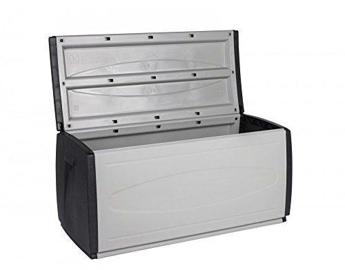 Kreher XXL Auflagenbox, 308 Liter Volumen, Kissenbox mit Rollen, viel Platz für Ihre Auflagen, Kissen oder andere Gegenstände - tolle Gartenbox robust und abwaschbar