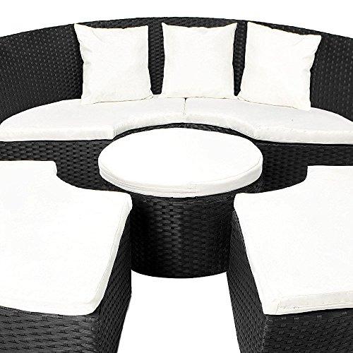 SSITG Sonneninsel Rattan Lounge Gartenmöbel Sonnenliege Sitzgruppe Gartenliege Liege