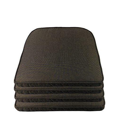 Sitzkissen-Sets Outdoorkissen 48x48x5cm - , Sitzauflagen-Farbe:Schwarz strukturiert, Sets:4er Set