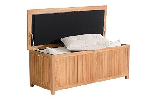 CLP Teak-Holz Auflagenbox ODESSA für Kissen & Auflagen, bis zu 3 Größe wählbar Länge 140 cm, 382 Liter