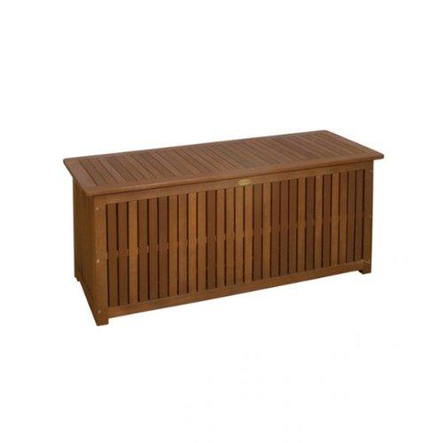Auflagenbox MAILAND Akazie Holz stabile Garten Truhe mit Innentasche NEU