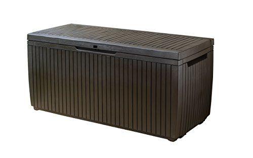 Keter Kissenbox, regenfest, Balkon Kissenbox Springwood, braun, 123 x 53,5 x 57 cm, 305 L, 17202488