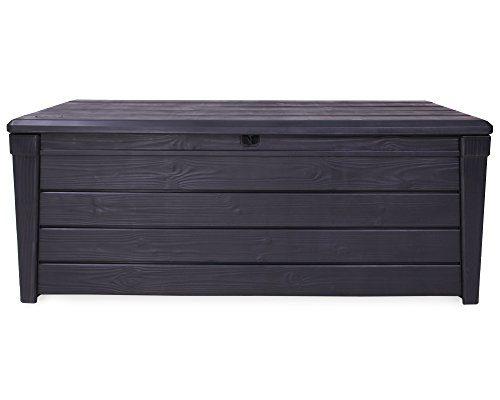 Ondis24 Kissenbox Auflagenbox Gartenbox Sitztruhe Kiste für Sitzkissen winterfest anthrazit 454 Liter