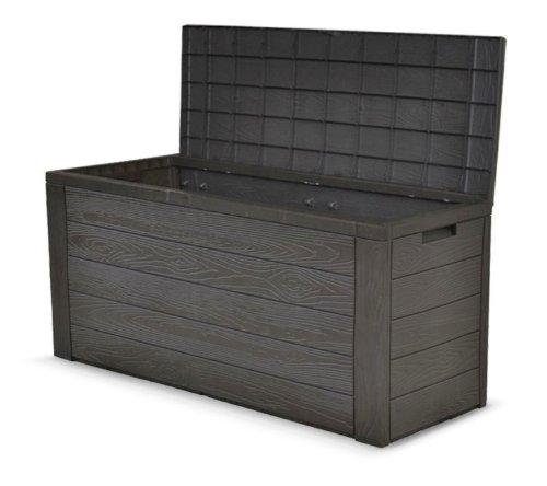 Auflagenbox Holz Optik Gartenbox Gartentruhe Auflagen Kissenbox Gartentruhe
