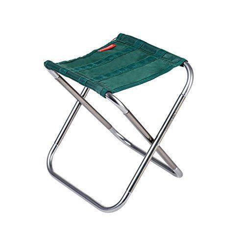 Klappstuhl Qiangzi Strand Tragbarer Klapphocker Aluminium Samll Camping Stuhl 25 * 22.4 * 26cm (Farbe : Grün, Größe : Pack of 1)