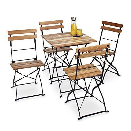 Relaxdays Gartenstuhl 4er Set, Klappbar, Metall ...
