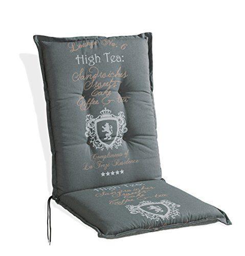 Nicht Zutreffend Sesselauflage Sitzpolster Gartenstuhlauflage für Mittellehner ANTON 5 | 50x110 cm | Grau