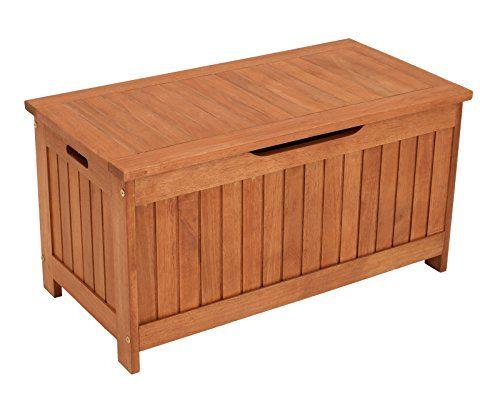 Kissenbox mit Deckel aus Eukalyptus Holz 88x45x45, FSC®-zertifiziert