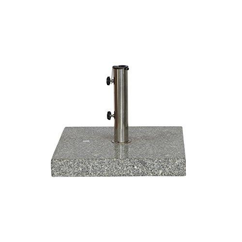 Siena Garden Schirmständer Granit, 50x50x9cm, Gestell: Granit, poliert in grau, Fläche: Granit in grau