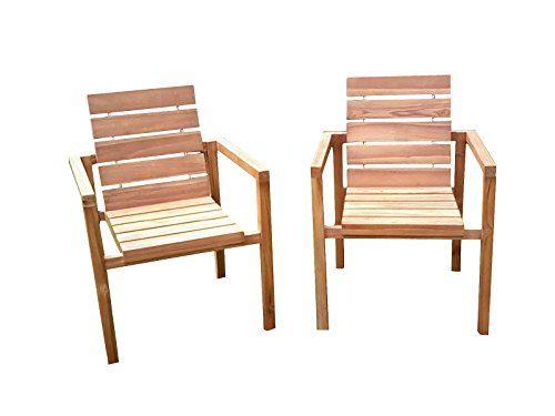 SAM® Teak-Holz Gartenstuhl, massive Sitzmöglichkeit ideal für Garten Terrasse Balkon oder Wintergarten [521222]