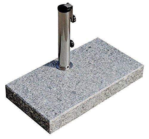 ProKIRA Sonnenschirmständer/25 kg/Schirme bis Ø200cm/Granit-Balkonschirmständer/eckig