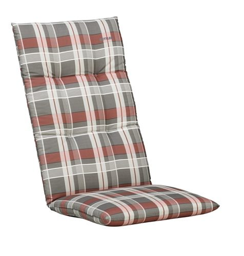 Kettler Auflage für Hochlehner – komfortable Sesselauflage mit Blockkissen und Kreisheftung – 120 cm hohe Polsterauflage aus Baumwolle